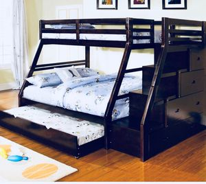 Bunk beds solid wood start at 250 for Sale in Roseville, CA