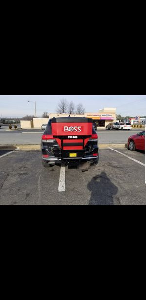 Salt/ Sand Mix Tailgate Spreader (BOSS TGS 800, 8 cu ft. 2 Stage) It's great for small business lots and small neighborhoods! for Sale in Culpeper, VA