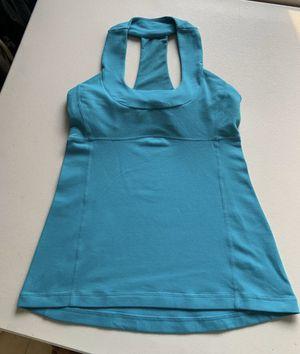 Lululemon Women's Scoop Neck Tank Top Shirt Teal Green Size 6 for Sale in West Palm Beach, FL