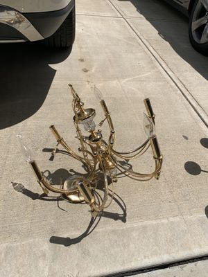 Golden Chandelier perfect condition $20 for Sale in Cranberry Township, PA
