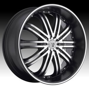 """Tis 532mb 20x8.5 5x112 20"""" rims black machine chrome including 4 tires! see pic on car! for Sale in Everett, WA"""