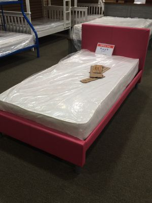 Twin bed frame pink for Sale in Cleveland, OH