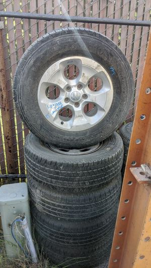 Set of 5 wheels n tires of a 13 Jeep Wrangler for Sale in San Diego, CA