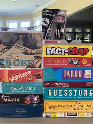 Board games and dart set for Sale in Sanford, NC