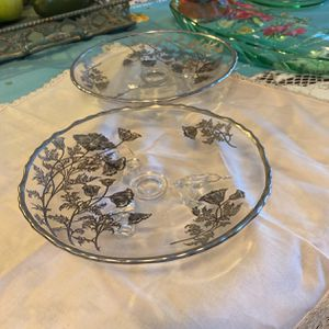 2 Embossed 3 Footed Candy Dishes for Sale in Tustin, CA