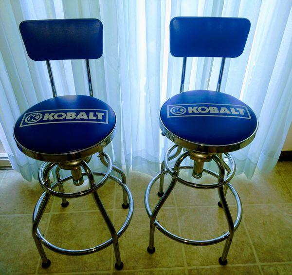 Superb Kobalt Adjustable Hydraulic Bar Stools For Sale In Mansfield Machost Co Dining Chair Design Ideas Machostcouk