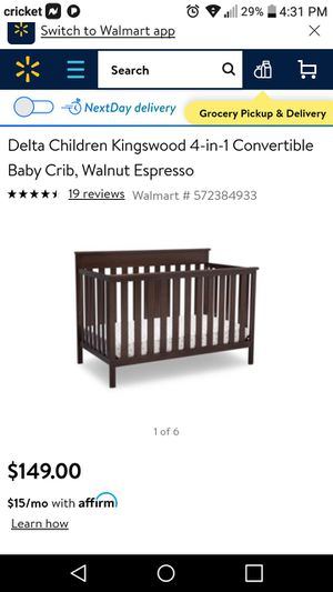 New in box unopened Kingswood 4 in 1 convertible crib and Sealy Ortho crib mattress for Sale in Wilmerding, PA