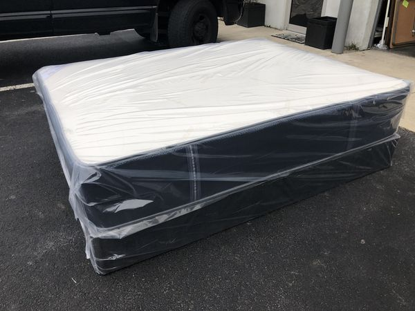 Brand New Queen Double Sided Pillowtop Mattress with Box Spring and Free Local Delivery
