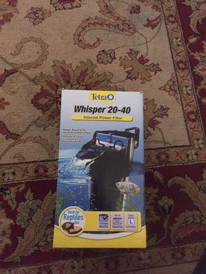 Brand New Tera Whisper 20-40 Gallon Filter for Sale in Tampa, FL