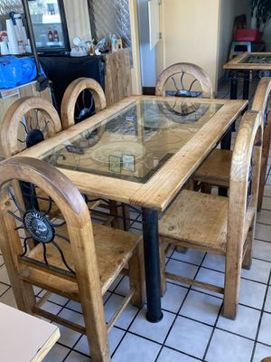 Old school wooden table for Sale in McFarland, CA