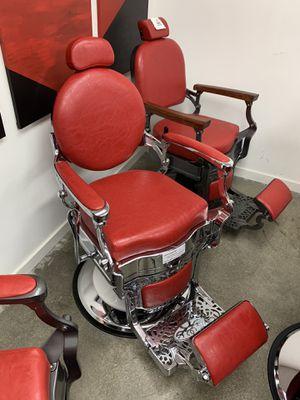 BarberPub Vintage Barber Chair All Purpose Heavy Duty Metal Hydraulic Recline Salon Beauty Spa Chair Equipment 3860 Red for Sale in Pico Rivera, CA