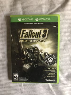 Fallout Game of the Year Edition Xbox One Xbox 360 for Sale in North Ridgeville, OH