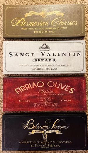 Italian Cafe Canvas Pictures - Set of Four for Sale in Lake Oswego, OR