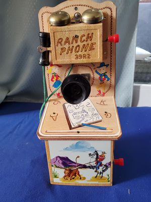 "1950's ""ranch Phone"" Toy Gong Bell Mfg collectible for Sale in Redwood City, CA"