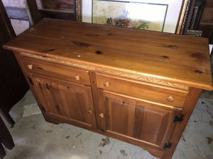 Two piece soft pine dining hutch for Sale in Bentonville, AR