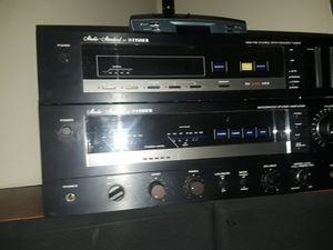 Am/FM stereo synthesizer tuner by Fisher, integrated stereo amplifier by Fisher, 2 kenwood jl-780 speakers for Sale in West Valley City, UT