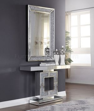 Console Table with mirror at low price in Rivera Future Furniture and Home Decor for Sale in Davenport, FL