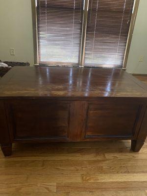 Dark Cedar wood coffee table w storage for Sale in Simpsonville, SC