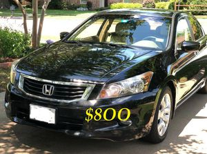 🔑👉💲8OO URGENT I sell my family car 2OO9 🔑 Honda Accord Sedan V6 EX-L power start Runs and drives very smooth.🔑💝 for Sale in Washington, DC