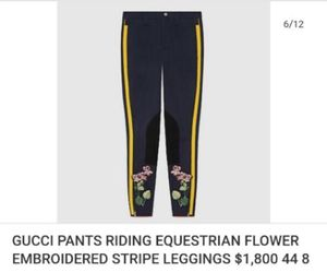Gucci Pants flower embroidered leggings for Sale in Los Angeles, CA