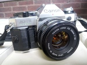Canon AE-1 camera 35mm and 50mm f1.8 lens for Sale in Columbus, OH