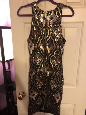 Multi colored sequin dress size L for Sale in Annandale, VA