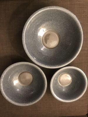 Vintage Granite Spackle Pyrex Bowl Set $50 for Sale in Hollywood, FL