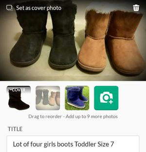 Lot of four girls boots Toddler Size 7 for Sale in Phoenix, AZ