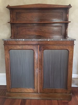 Antique cabinet with marble top for Sale in Greenwich, CT