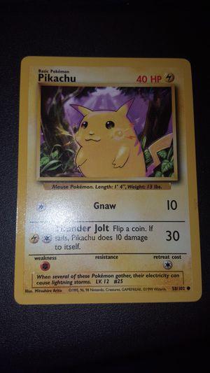 MINT 1st gen Pikachu 58/102 Pokemon card. for Sale in Spring Hill, FL