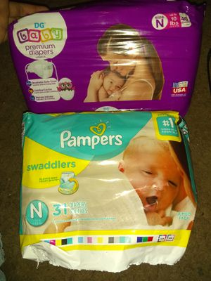 21 Pampers & new dollar general newborn diapers for Sale in Houston, TX