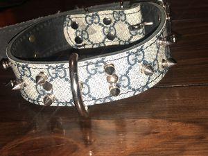 Custom Gucci Dog collar 16-20 for Sale in Clovis, CA