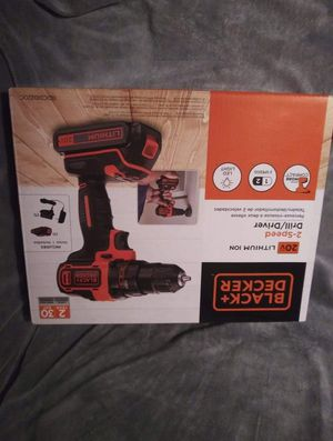 Black & Decker 20-volt lithium-ion 2 speed drill and driver for Sale in Wichita, KS