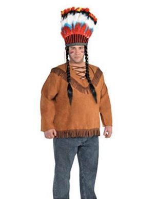 Western or Native American Fringed Shirt, Adult XXL, Halloween Costume NEW for Sale in Cheshire, CT