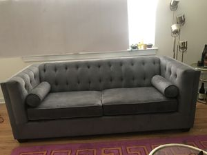 Cute Grey Tufted Sofa for Sale in Washington, DC