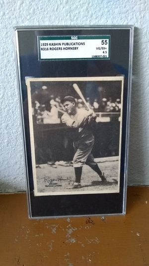 Roger Hornsby Graded Baseball Card for Sale in Tracy, CA
