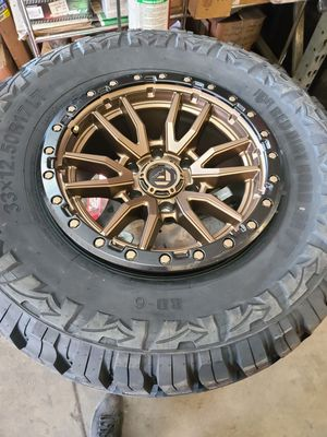 17x9 fuel rebel wheels all finishes with tires for Sale in Dixon, CA