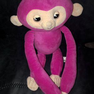 Like New Fingerlings Hugs Bella Pink Monkey Plush Interactive Toy 40 Sounds for Sale in St. Petersburg, FL