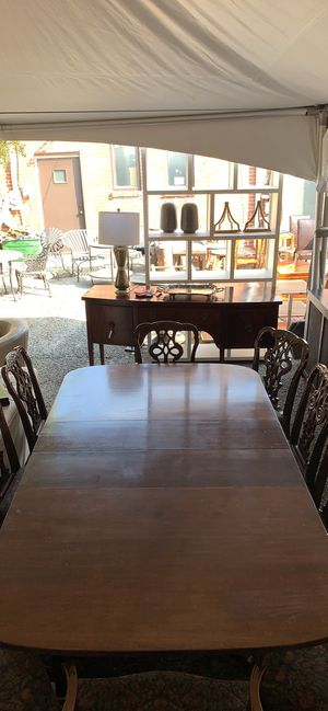 Antique Kitchen Table with 10 chairs. for Sale in Nashville, TN