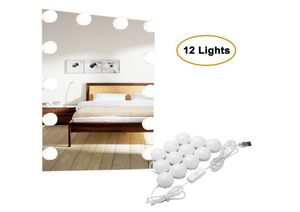 Vanity Lights,12 Hollywood Style Bulbs,7000K Dimmable Daylight White,17FT/5.2M Hidden Adjustable Length LED Mirror Light for Sale in Rancho Cucamonga, CA