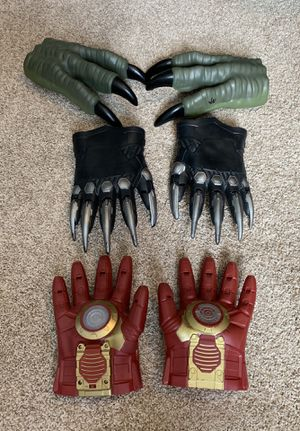 Marvel Avengers, Black Panther, and Dinosaur gloves for Sale in Spring Hill, TN