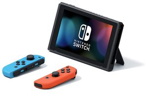 Nintendo Switch with Neon Blue and Neon Red Joy‑Con (brand new) for Sale in New Berlin, WI