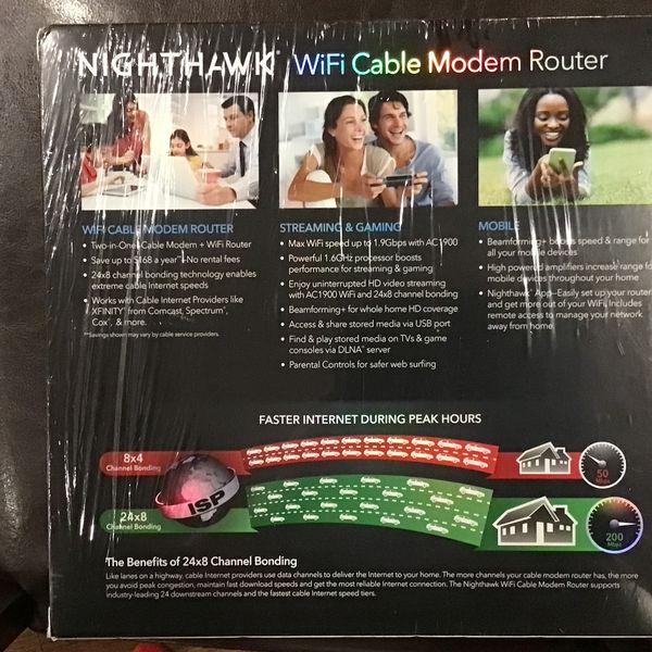 Netgear Nighthawk AC1900 Wifi Cable Modem Router