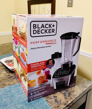 New in Sealed Box 📦- Black & Decker PERFORMANCE DIGITAL FusionBlade 64-Oz. Blender - Silver/Black 😉 for Sale in Boynton Beach, FL