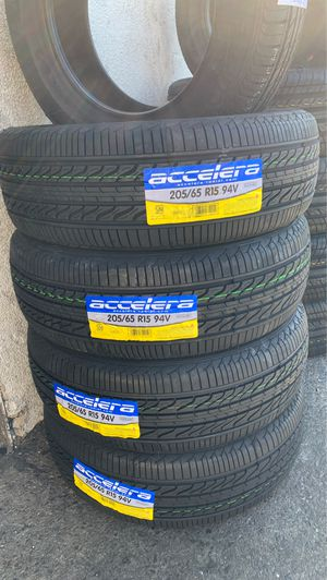 New Tire 205/65R15 Accelera Eco Plus Set Of 4 Tires Free Mount Balance 205/65/15 for Sale in San Jose, CA