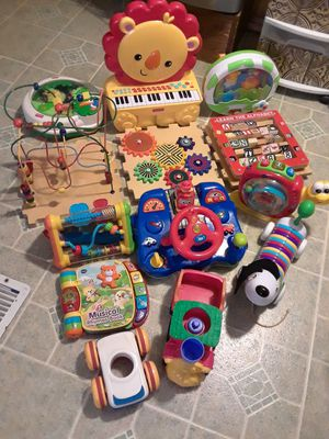 Baby's & Kids Toys all in good condition some toys needs batteries and some already comes with batteries 40. for all for Sale in Princeton, TX