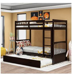 Merax Twin Bunk Bed With Trundle for Sale in Nashville,  TN