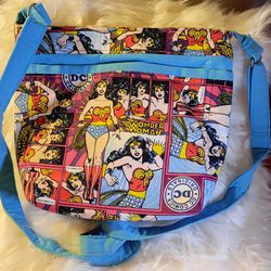 wonder woman dc comics blue canvas crossbody purse bag for Sale in Fresno,  CA