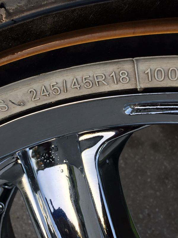 18 inch chrome rims 5x114 Have all four rims only one tire