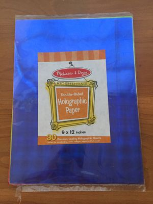Melissa & Doug Holographic Paper. 30 sheets. Brand new for Sale in Peoria, IL